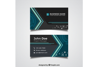 دانلود وکتور Modern black and blue business card
