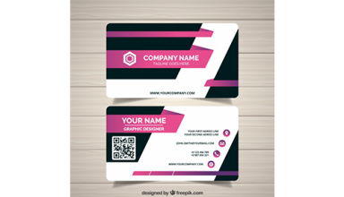 دانلود وکتور Black and pink business card