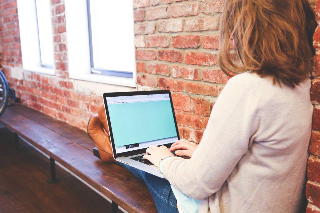 Working Typing Macbook Computer Wallpaper