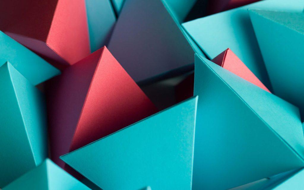 3D Triangle Cube Wallpaper