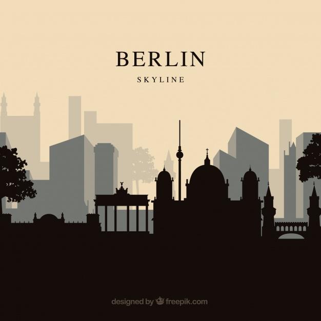 دانلود وکتور Berlin skyline background