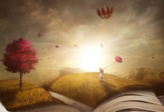 Dream Autumn Landscape Book Girl Wallpaper