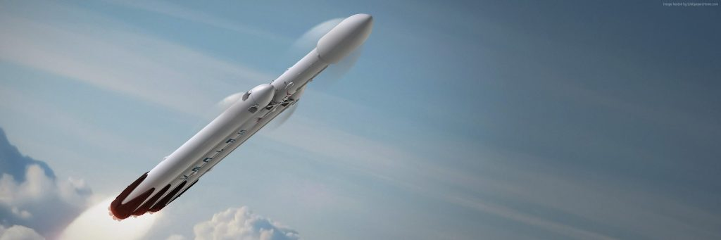 Falcon Heavy SpaceX Launching Wallpaper