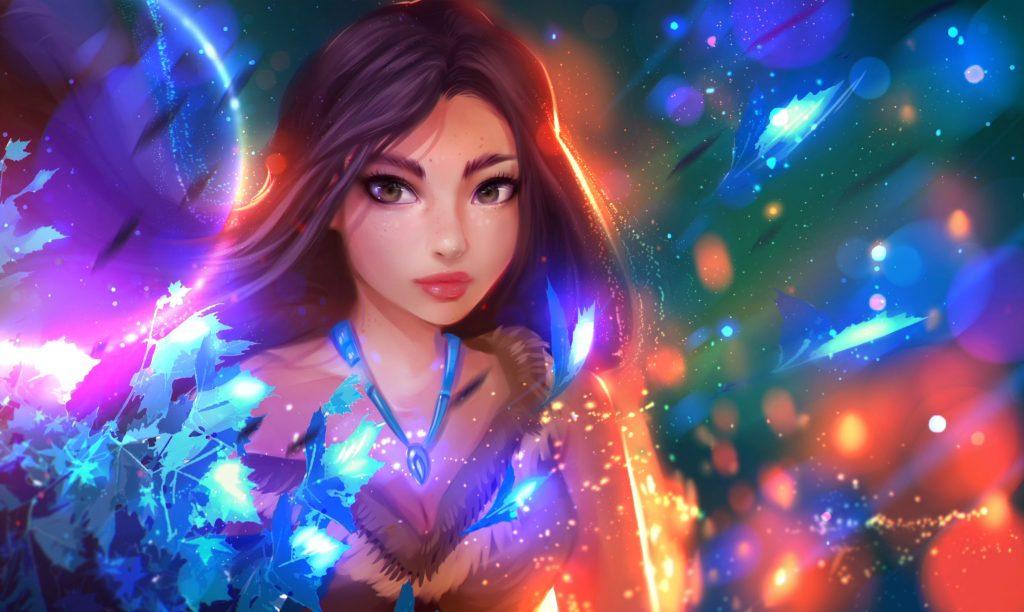 Fantasy Girl Colors Wallpaper