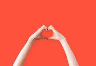 Female Hands Heart Symbol Wallpaper