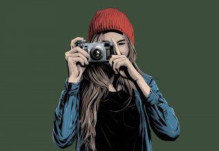 Girl Photographer Art Wallpaper
