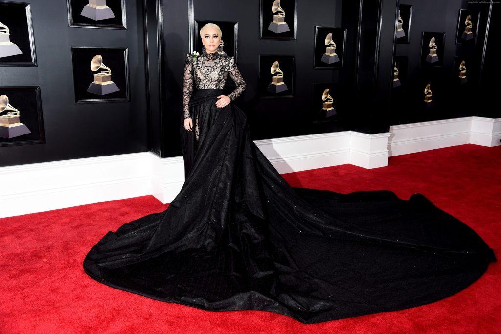 Lady Gaga Dress Grammy 2018 4k Wallpaper