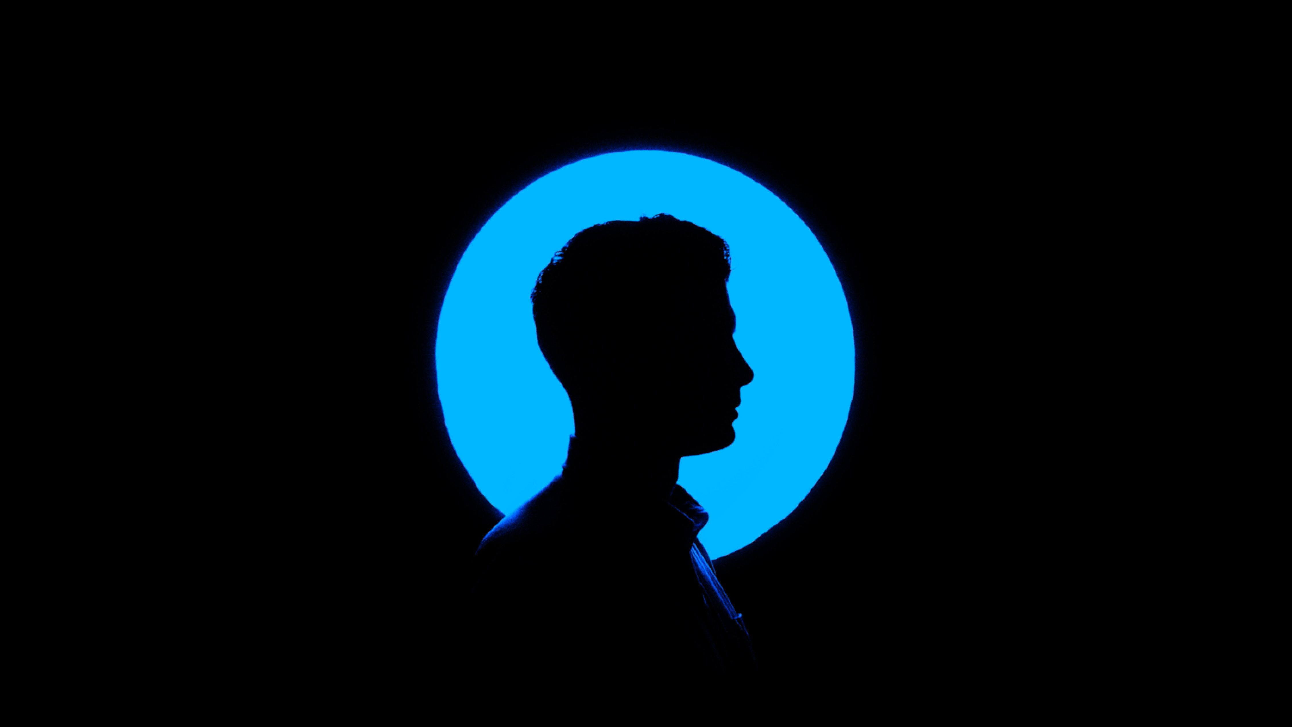 Man Profile Silhouette Circle Wallpaper