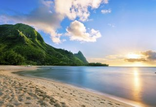 Maui Hawaii Beach Ocean Coast Mountain Sky Wallpaper