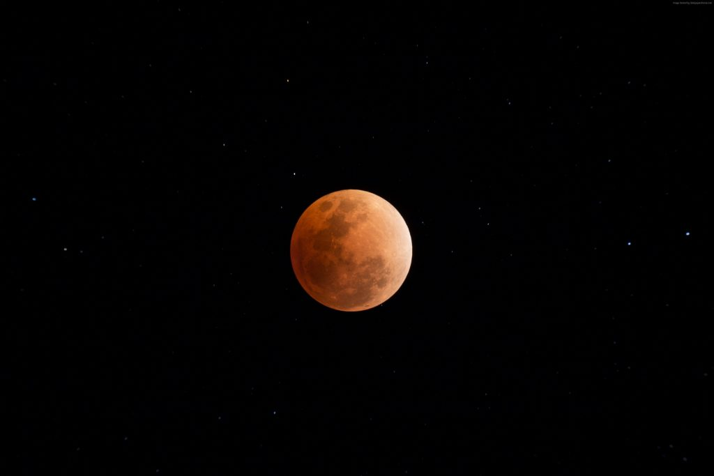 Moon Eclipse Space 4k Wallpaper