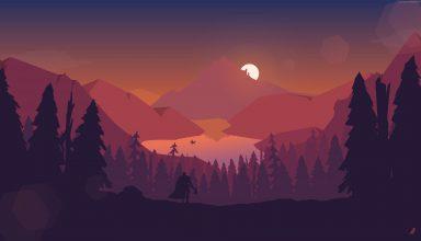 Mountain Sun Forest Wallpaper