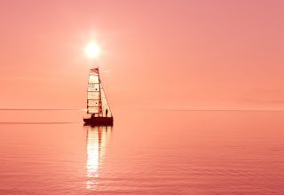 Ocean Sailboat Wallpaper