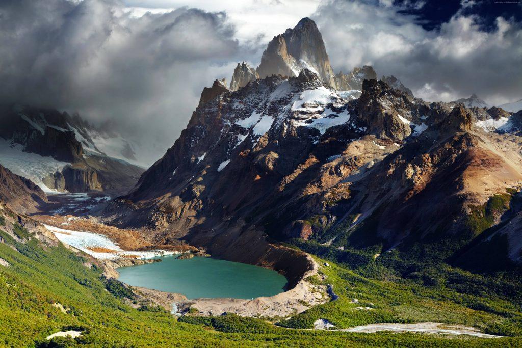 Patagonia Argentina Mountains Lake Wallpaper