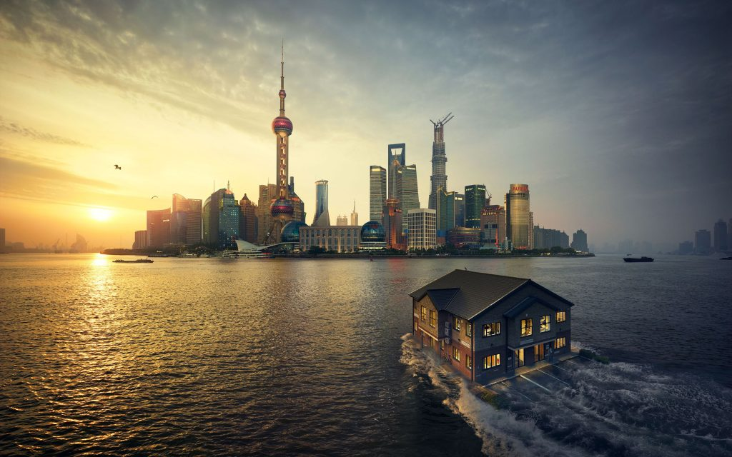 Shanghai Sunset Wallpaper