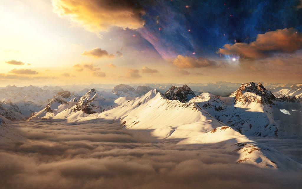 Swiss Alps Mountains Switzerland Landscape Wallpaper