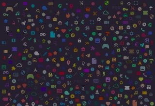 Texture Icons Minimalism Digital Art Wallpaper