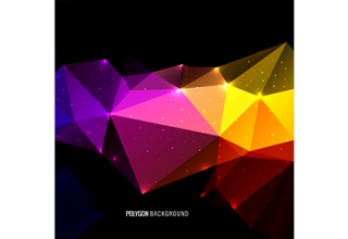 دانلود وکتور Abstract colorful triangle polygon background
