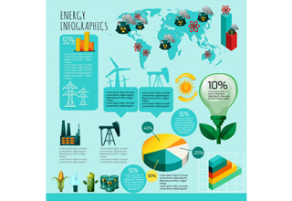 دانلود وکتور Energy Infographics Set