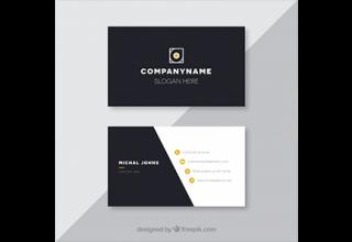 دانلود وکتور Black business card