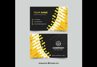 دانلود وکتور Business card in flat style