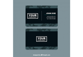 دانلود وکتور Business card with marble texture