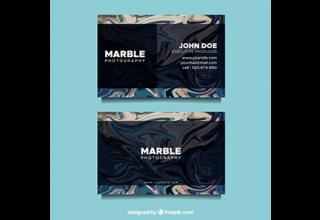 دانلود وکتور Business card with marble texture
