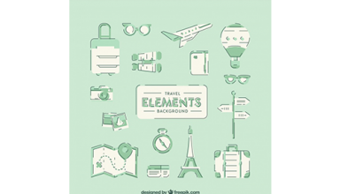 دانلود وکتور Green holiday elements background