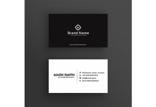 دانلود وکتور Minimal dark business card design template