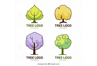 دانلود وکتور Creative collection of tree logos