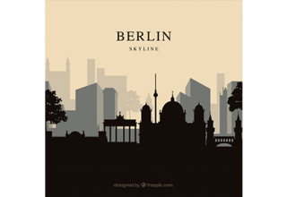 دانلود وکتور Berlin skyline background