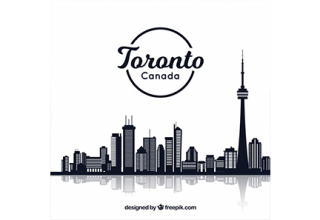 دانلود وکتور Creative skyline design of toronto