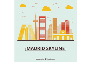 دانلود وکتور Skyline design of madrid