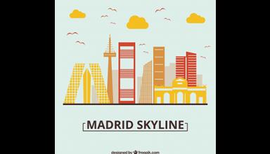 دانلود وکتور Skyline design of madrid