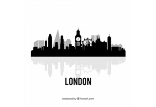 دانلود وکتور Black london skyline design