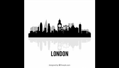 دانلود وکتور Black london skyline design
