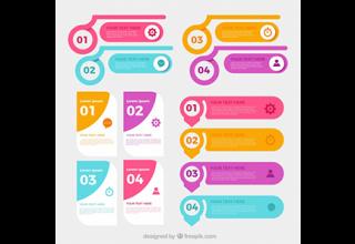 دانلود وکتور Collection of infographic elements