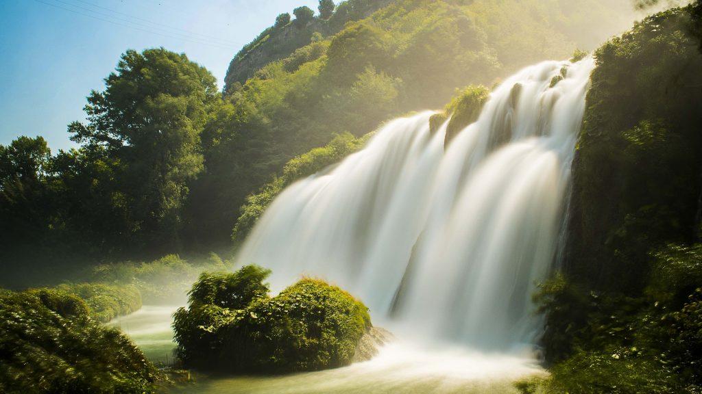 Waterfall Summer Wallpaper