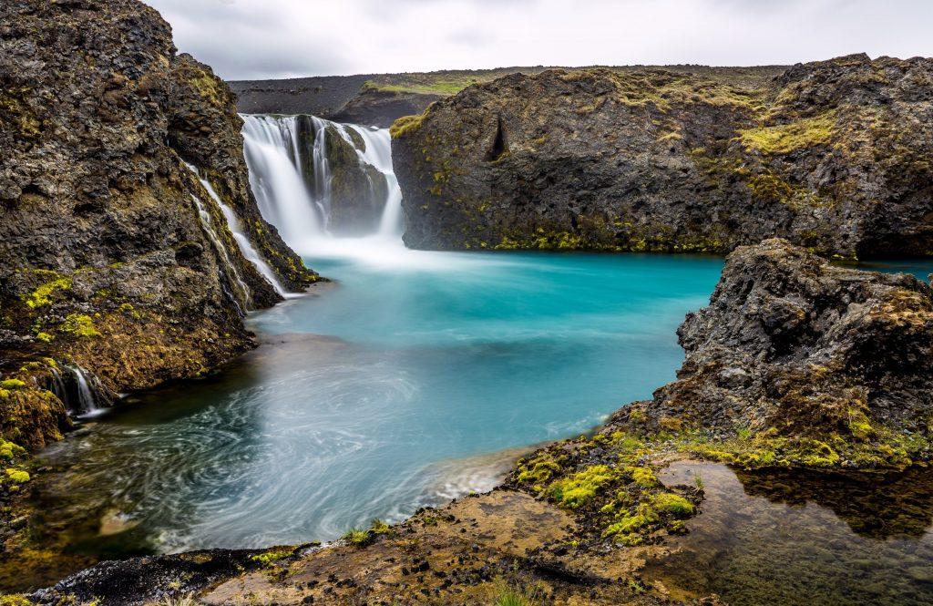 Waterfall Pretty Background Wallpaper
