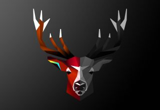 Abstract Deer 4k Wallpaper