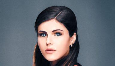 Alexandra Daddario Artwork Wallpaper