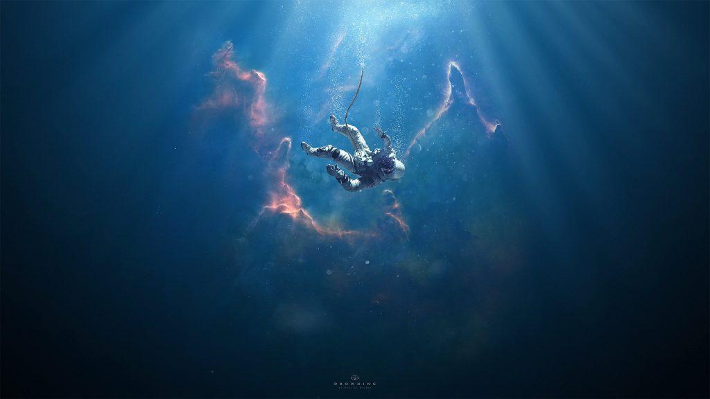 Astronaut Drowning Manipulation Wallpaper