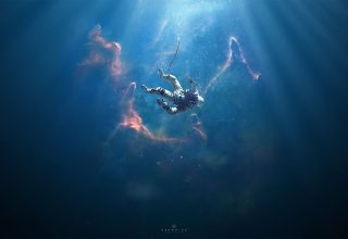 Astronaut Drowning Manipulation Wallpaper