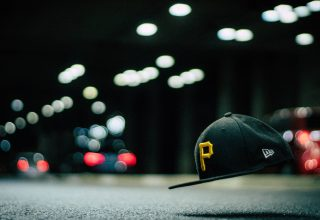 Black and Yellow P Cap in The Air Wallpaper