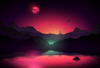 Couple Dream Sunset Wallpaper