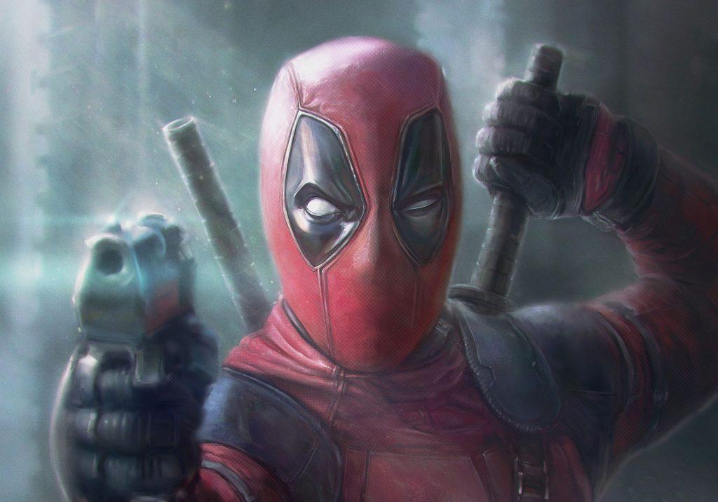 Deadpool Pointing Gun Artwork Wallpaper