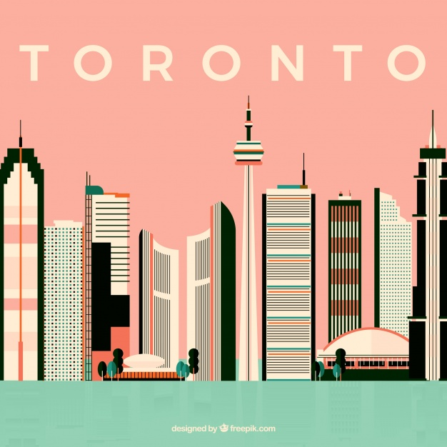 دانلود وکتور Modern skyline design of toronto