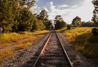 Railway Grass Sky Summer Wallpaper