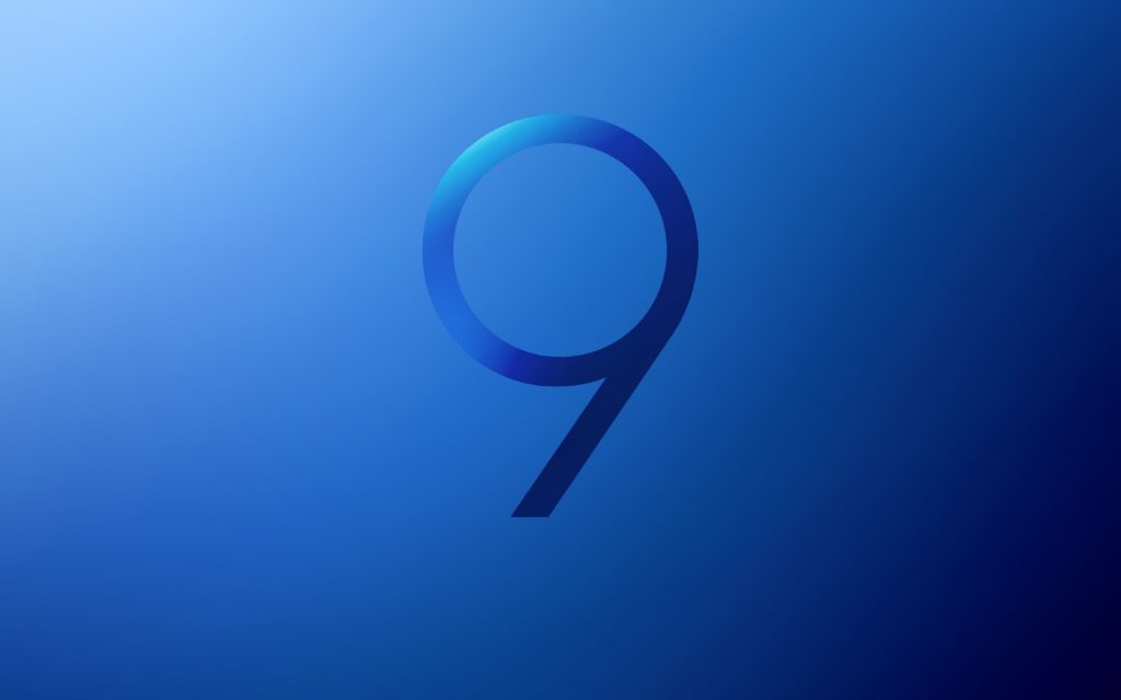 Samsung Galaxy S9 Stock Blue Wallpaper