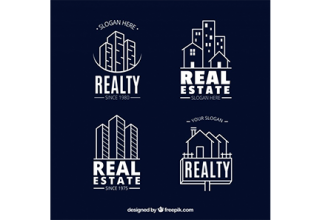 دانلود وکتور Collection of real estate logotypes