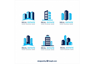 دانلود وکتور Flat collection of real estate logos